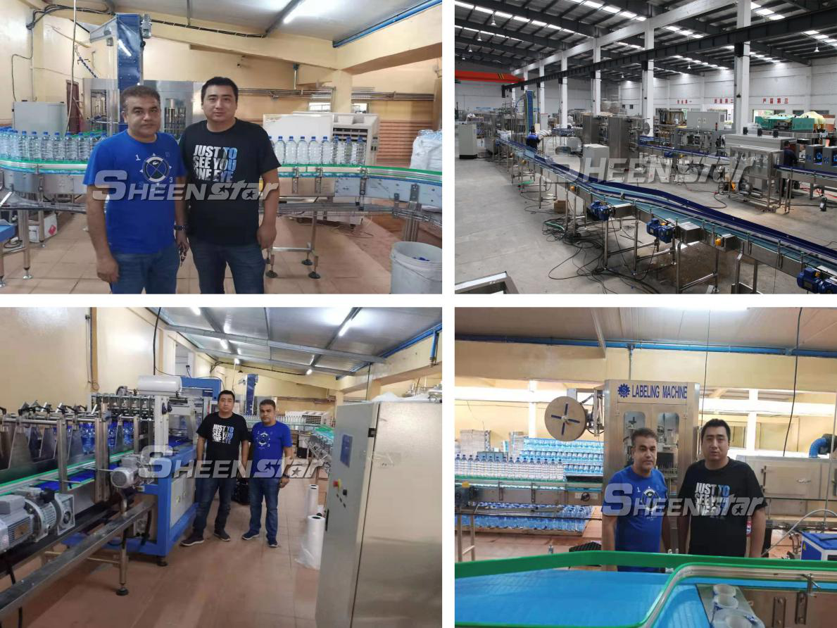 Bottled Water Filling Line Installed and Worked Successfully